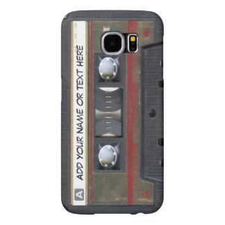 Mirada de la cinta de casete de música del vintage fundas samsung galaxy s6