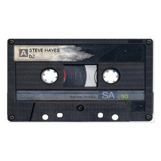 Mirada de la cinta de casete de música del vintage tarjetas de visita