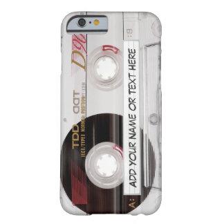 Mirada de la cinta de casete del vintage - modelo funda de iPhone 6 barely there