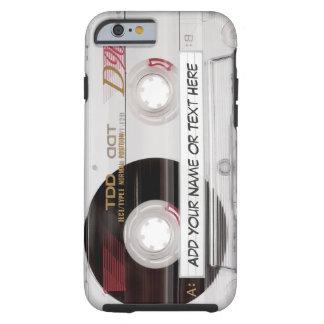 Mirada de la cinta de casete del vintage - modelo funda para iPhone 6 tough
