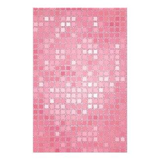 Mirada de la lentejuela del rosa color de rosa papeleria de diseño