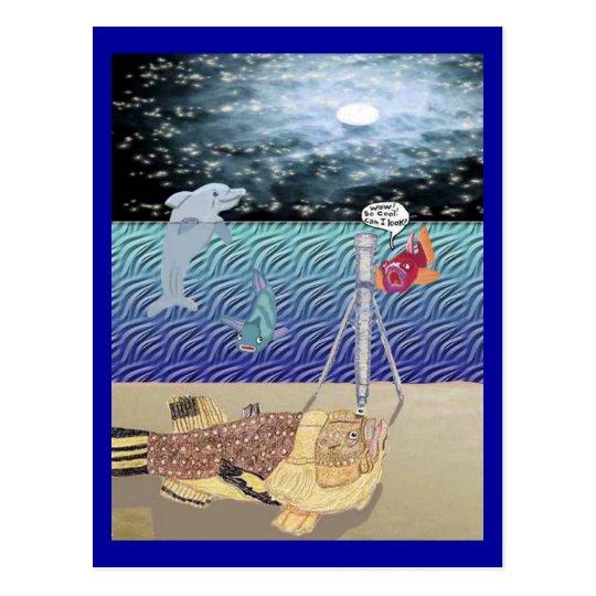 Mirada de la luna tarjeta postal
