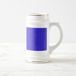 Mirada de la malla de la armadura del azul real jarra de cerveza