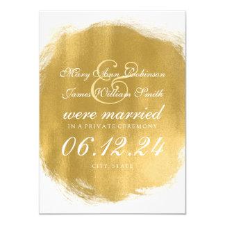 """Mirada de la pintura del oro de la boda/de la fuga invitación 4.5"""" x 6.25"""""""