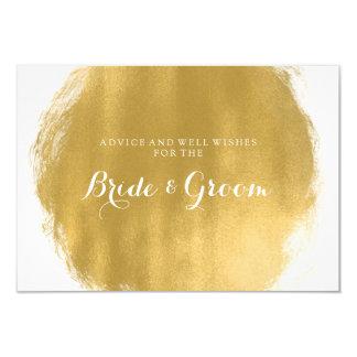 """Mirada de la pintura del oro de la tarjeta del invitación 3.5"""" x 5"""""""