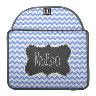 Mirada de la pizarra del vintage, modelo azul de fundas macbook pro