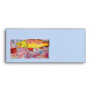 mirada de la serigrafía de la trucha arco iris
