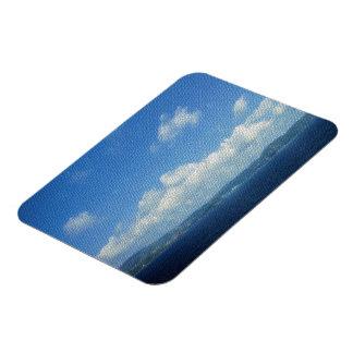 Mirada de la teja de mosaico del cielo del paraíso imanes rectangulares