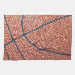 Mirada de la textura de Spirit_Basketball del equi Toallas De Cocina