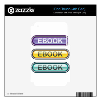 Mirada de la transferencia directa del botón de calcomanía para iPod touch 4G