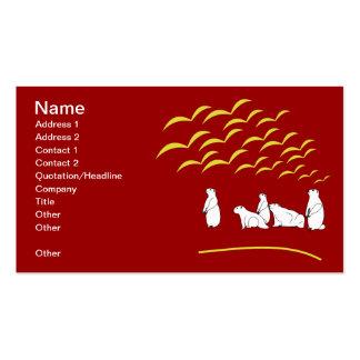 Mirada de las marmotas en la tarjeta de visita de