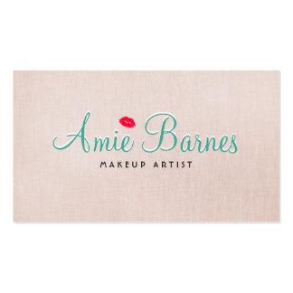 Mirada de lino beige retra del artista de tarjetas de visita