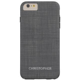 Mirada de lino de hombres con nombre personalizado funda resistente iPhone 6 plus