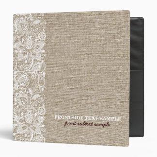 """Mirada de lino de la arpillera de los tonos del carpeta 1 1/2"""""""