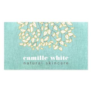 Mirada de lino de la belleza de la turquesa plantilla de tarjeta de negocio
