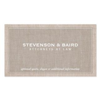 Mirada de lino de la textura de la asesoría tarjeta de visita