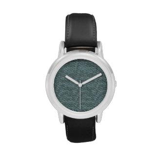 Mirada de lino de las olas oceánicas relojes de mano