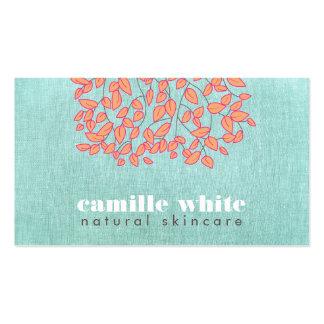 Mirada de lino de Skincare de la turquesa azul Tarjetas De Visita