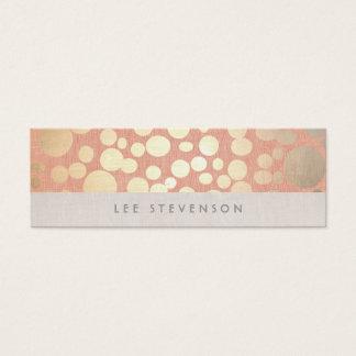 Mirada de lino del oro del melocotón de moda de tarjeta de visita pequeña