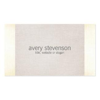 Mirada de lino minimalista 1 de la textura del tarjetas de visita