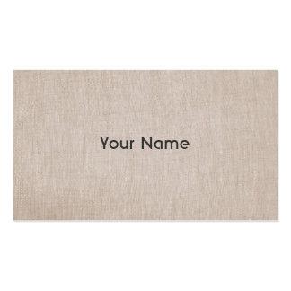 Mirada de lino natural del profesor del zen de tarjetas de visita
