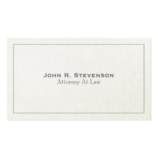 Mirada de lino suave del abogado clásico tarjetas de visita