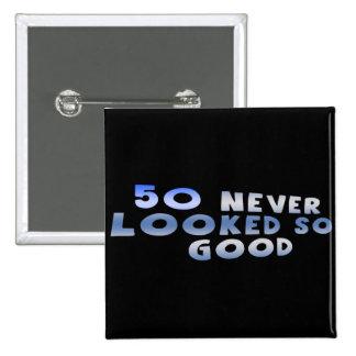 Mirada de los 50.os regalos de cumpleaños tan pin cuadrado