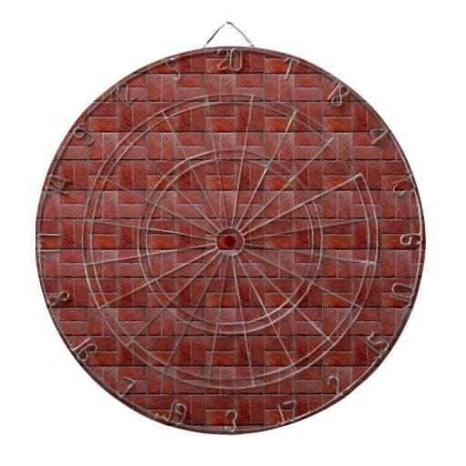 Mirada de los ladrillos rojos tabla dardos