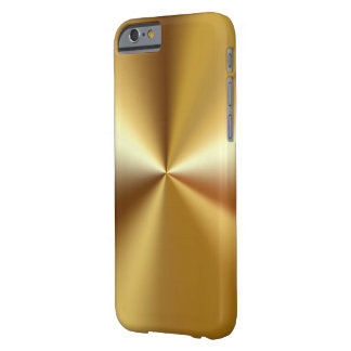 Mirada de lujo del oro de los hombres funda de iPhone 6 barely there