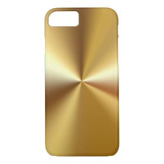 Mirada de lujo del oro de los hombres funda iPhone 7