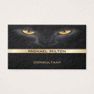 Mirada de lujo elegante profesional del cuero del tarjetas de visita