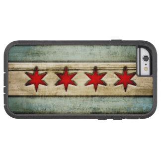 Mirada de madera apenada bandera de Chicago del Funda Para iPhone 6 Tough Xtreme