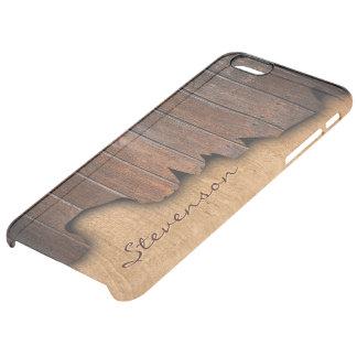 Mirada de madera astillada madera rústica funda clearly™ deflector para iPhone 6 plus de unc