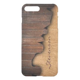 Mirada de madera astillada madera rústica fundas para iPhone 7 plus