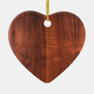 Mirada de madera Blanc de cerámica Blanche de la Adorno Navideño De Cerámica En Forma De Corazón