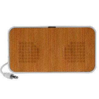 Mirada de madera de bambú ambarina laptop altavoz