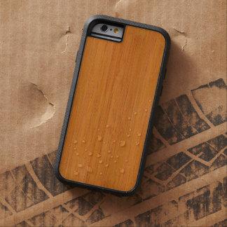 Mirada de madera de bambú ambarina del grano funda de iPhone 6 tough xtreme