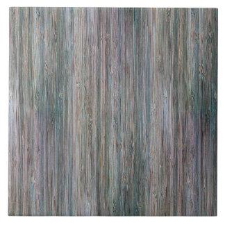 Mirada de madera de bambú curtida del grano azulejo cuadrado grande