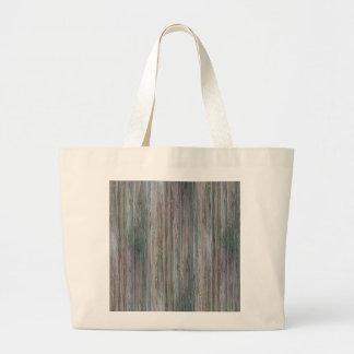 Mirada de madera de bambú curtida del grano bolsa tela grande