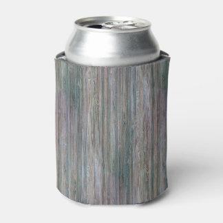 Mirada de madera de bambú curtida del grano enfriador de latas