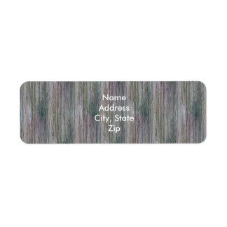 Mirada de madera de bambú curtida del grano etiqueta de remitente