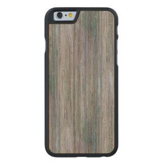 Mirada de madera de bambú curtida del grano funda de iPhone 6 carved® de arce