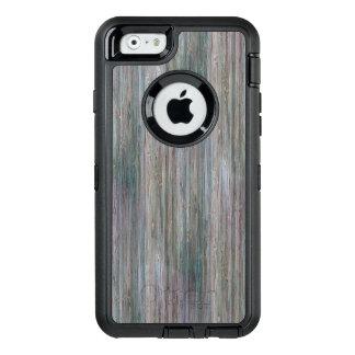 Mirada de madera de bambú curtida del grano funda otterbox para iPhone 6/6s