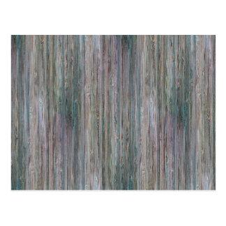 Mirada de madera de bambú curtida del grano postales