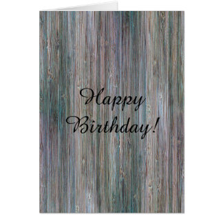 Mirada de madera de bambú curtida del grano tarjeta de felicitación