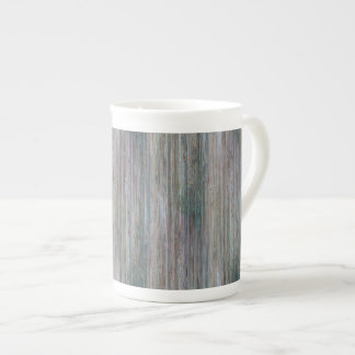 Mirada de madera de bambú curtida del grano taza de porcelana