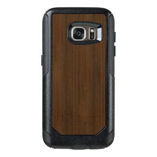 Mirada de madera de bambú del grano de Brown de la Funda Otterbox Para Samsung Galaxy S7