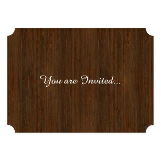 """Mirada de madera de bambú del grano de Brown de la Invitación 5"""" X 7"""""""