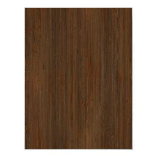 Mirada de madera de bambú del grano de Brown de la Invitaciones Magnéticas
