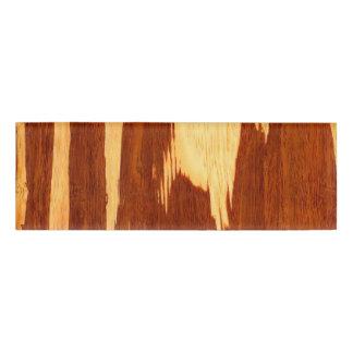 Mirada de madera de bambú del grano de la raya del chapa identificatoria